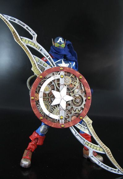 Steampunk Captain America (Marvel Legends) Custom Action Figure