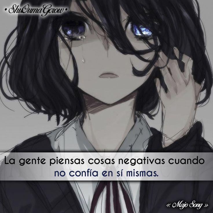 La gente que piensa. #ShuOumaGcrow #Anime #Frases_anime #frases