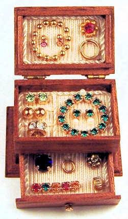 """Filled jewelry box $74 Miniature  Tan cameo  By Taller Targioni  1"""" wide, 3/4"""" deep, 3/4"""" tall"""