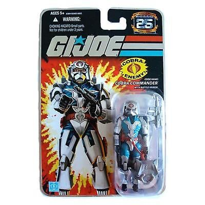 G.i. Joe Cobra Commander Figure Battle Armor 25th Anniversary Stand Wave 6 New