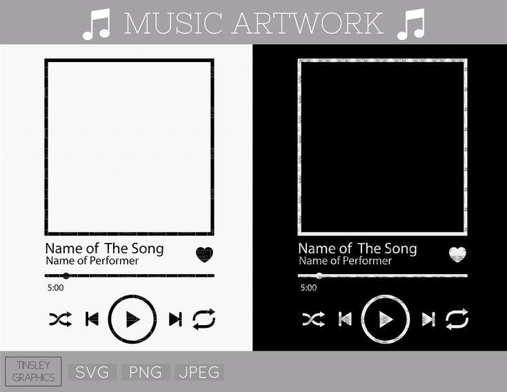 MUSIC GLASS ARTWORK // Music Player Svg, Acrylic Music