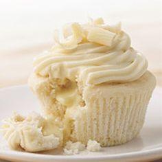 White Chocolate Cupcakes with Lindor Truffle Chocolate