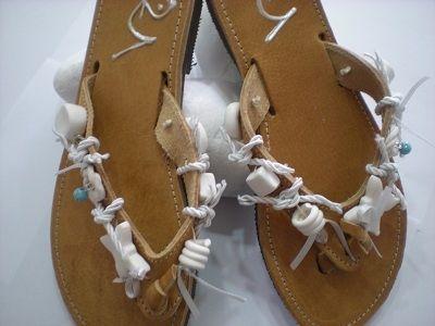 handmade sandals - Greek leather