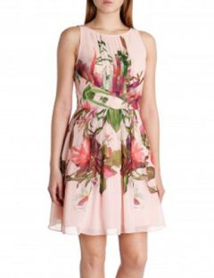 TED BAKER Carlii Symmetrical Orchid Floral Dress