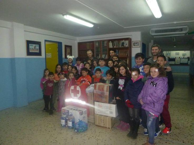 Στη δράση «Μαζεύω καπάκια Μοιράζω χαμόγελα» συμμετείχαν οι μαθητές του Δημοτικού Σχολείου Ψίνθου