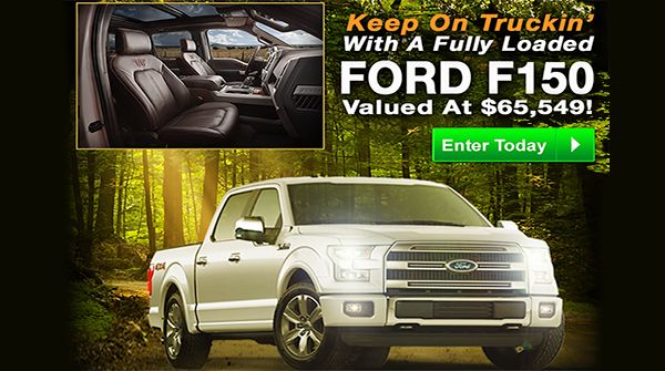 PCH Car Sweepstakes - Win a Ford F-150 Truck | Activations