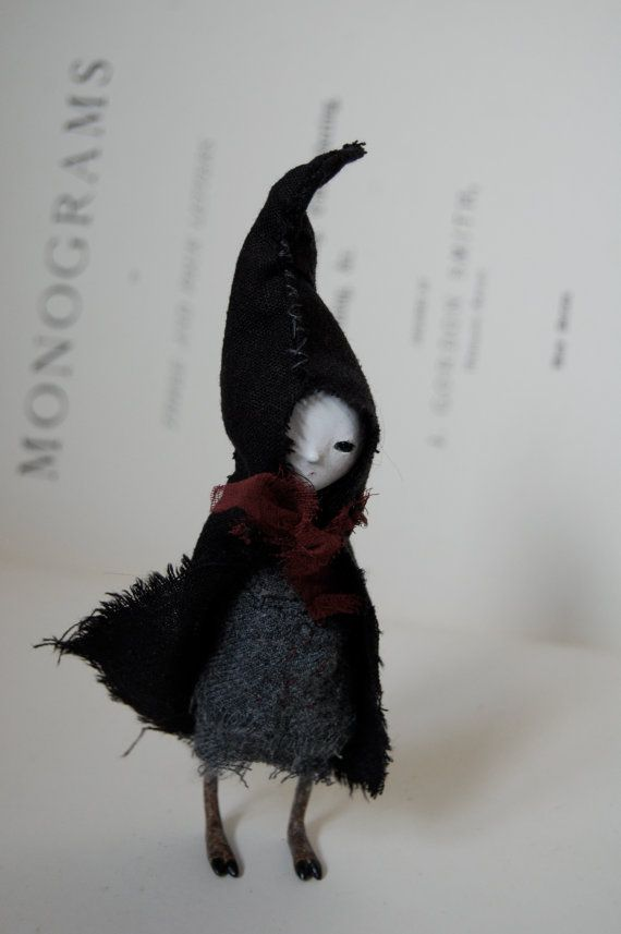 OOAK paper clay art doll  Orphin by anthropomorphica on Etsy