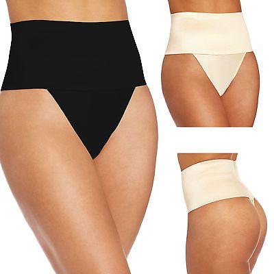 High-Waist-Briefs-Thong-Body-Shaper-Tummy-Tucker-Shapewear-Firm-Seamless-Panties