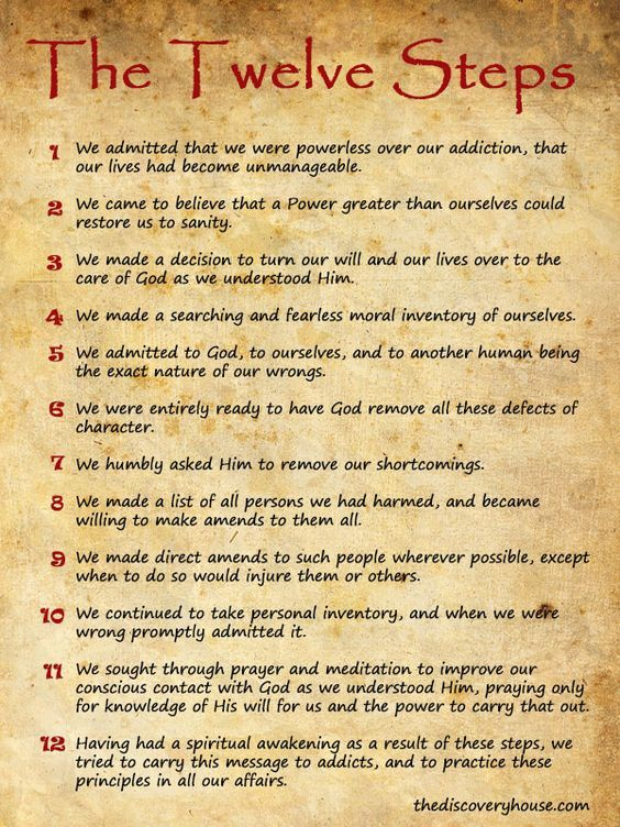 12 Steps of Narcotics Anonymous | These 12 steps will significantly aide in the success of long-term ...: