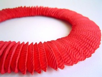 Necklace Cairo poppy red