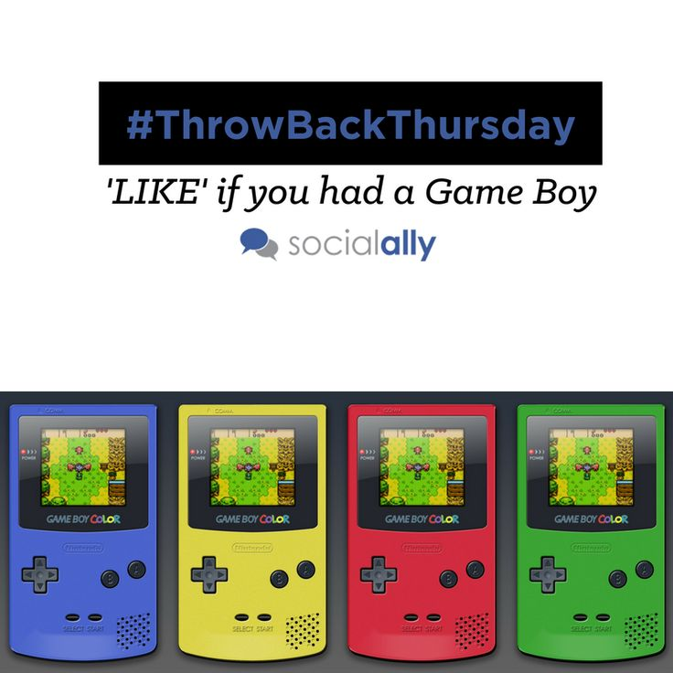 Throwing it back to the Game Boy days! #TBT #ThrowBackThursday