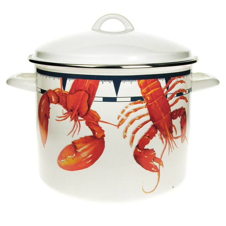 Wonderful Stainless Steel Rim Nautical Decor 16 Quart Lobster Stock Pot For Clam Bake  Cooking.