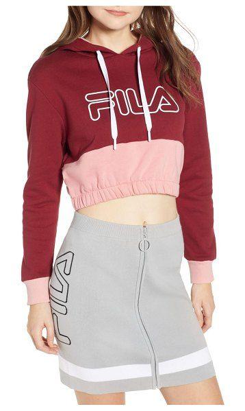 a10c5abd826 Fila Dora Crop Hoodie in 2019   Colour Inspiration   Cropped hoodie ...