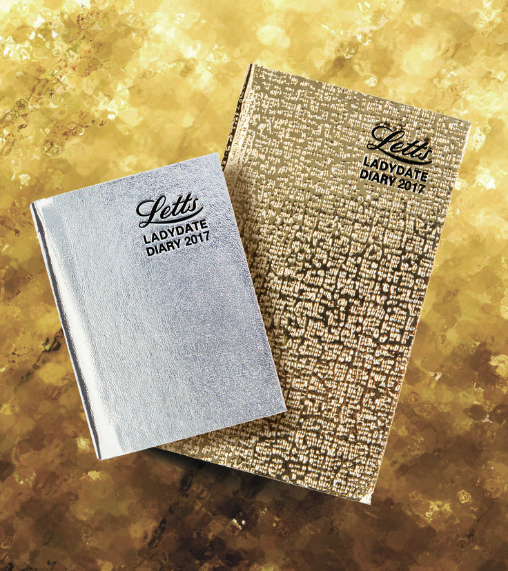 The Ladydate Diary, an iconic Letts classic with bright metallic cover #letts #diary #lettsdiaries #2017 #fashion #beautiful #metallic #gold #silver #planner #journal #stationery #organised