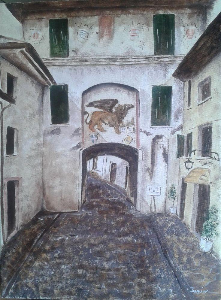 """Porta Leone"" 25x35 Olio su Tela"