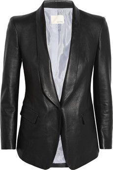 Band of Outsiders Leather blazer | NET-A-PORTER Get it here:http://rstyle.me/n/dppqgwx26