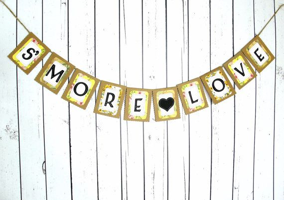 S'MORE LOVE Banner Wedding Reception Dessert por LazyCaterpillar