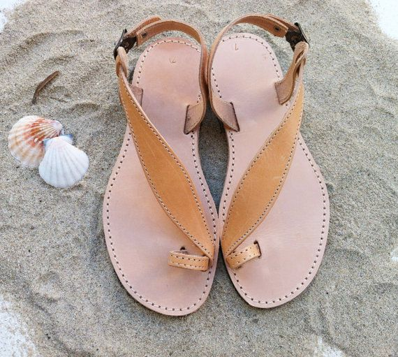 sandales en cuir sandales grecques à la main par GrecianSandals