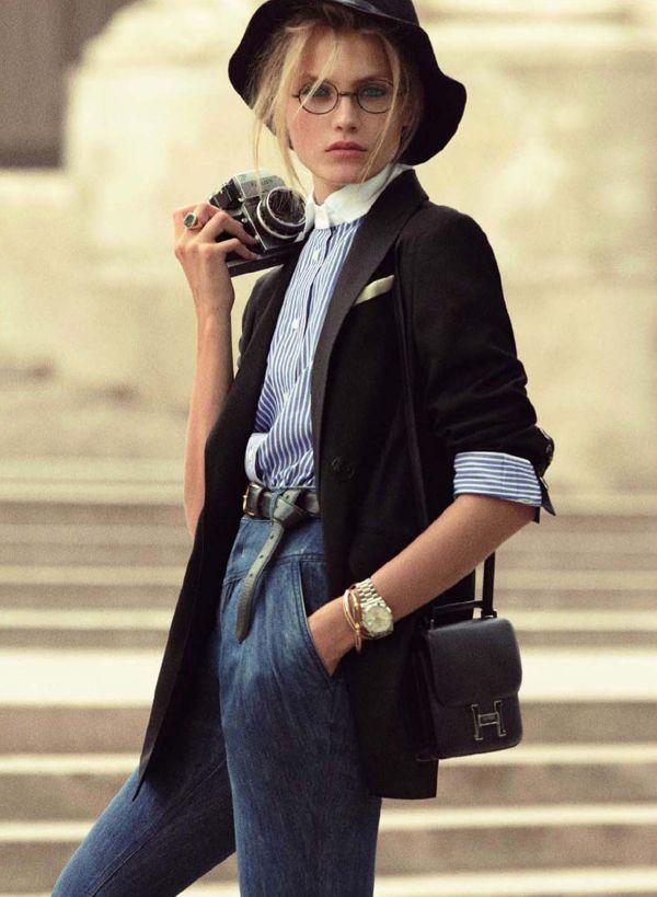 anna jagodzinska as diane keaton for vogue paris september 2011. #AnnieHall