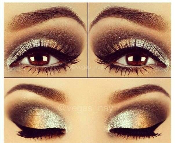 Silver and Gold eye makeup