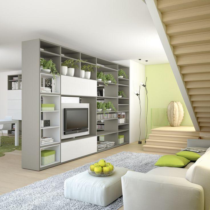 Oltre 25 fantastiche idee su divisorio a libreria su - Porta tv girevole ikea ...