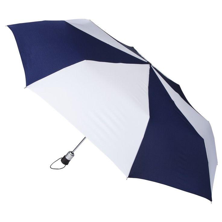 totes Family Jumbo Automatic Umbrella - Navy + White, Blue/White