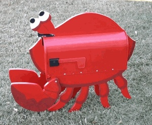 Crab Mailbox- @Mary Burns totally needs this.