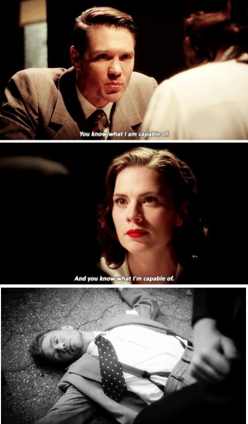 I have a hard time taking Agent Thompson seriously since he doesn't take Peggy Carter seriously.