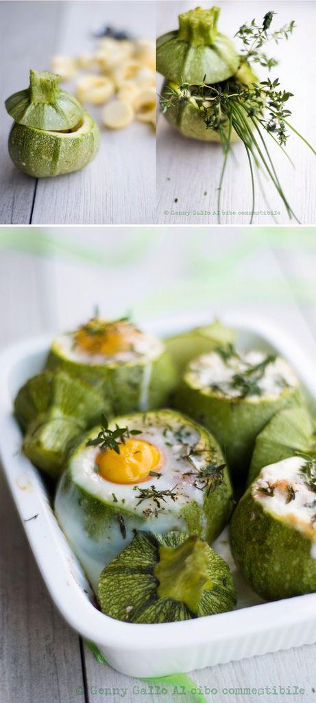 zucchine ripiene di crescenza prosciutto e uova