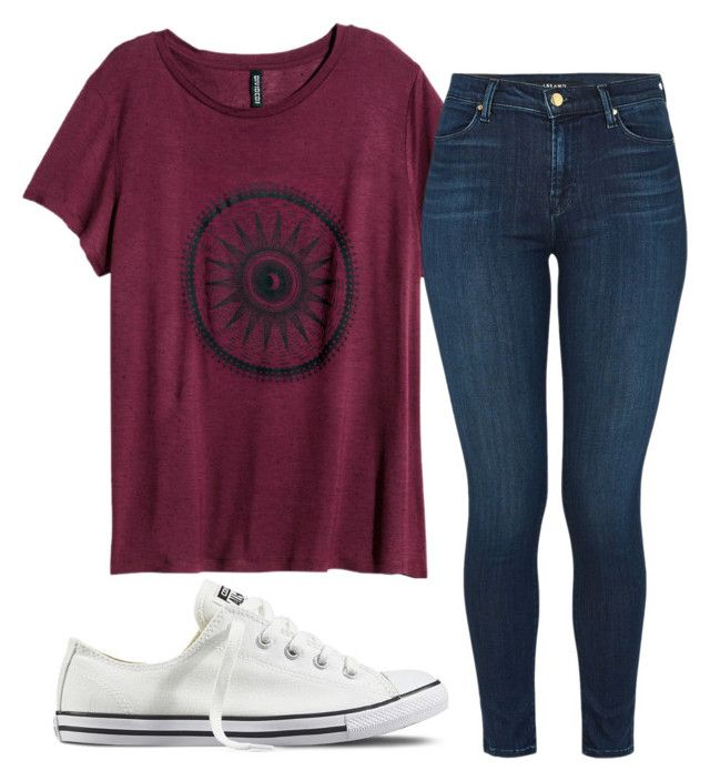 """""""Untitled #200"""" by kingrabia on Polyvore featuring H&M, J Brand and Converse"""