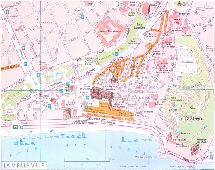 Nice - vielle ville Map - Nice France • mappery