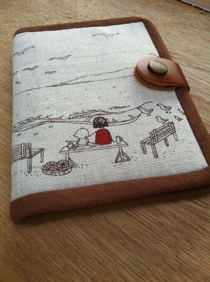 handmade passport holder-front