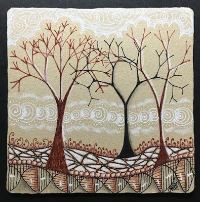 Fall Fractal Trees by Adele Bruno, CZT: Courant, Printemps, Fescu, N'zepple, Xav