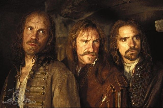 The Man in the Iron Mask (1998) is a film directed by Randall Wallace, it centres on the aging Musketeers Athos, Porthos, Aramis and D'Artagnan and the reign of King Louis XIV of France. Description from independent.co.uk. I searched for this on bing.com/images