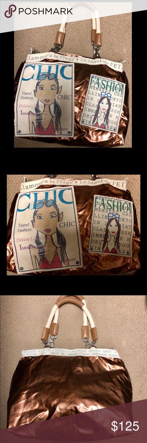 "Funky Barbara Rihl Paris large tote. Hardly used! Funky Barbara Rihl Paris large tote. Hardly used! Sz 18x14x8.5"" Bags Totes"
