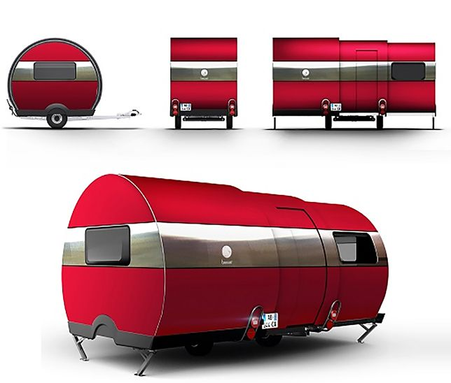 Around$20K; BeauEr, an automatically expandable trailer.