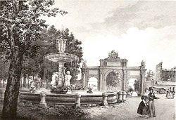Antigua puerta de Atocha en la actual Glorieta del emperador Carlos V