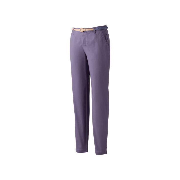 Women's Croft & Barrow® Tapered Chino Pants, Size: 12 Short, Blue