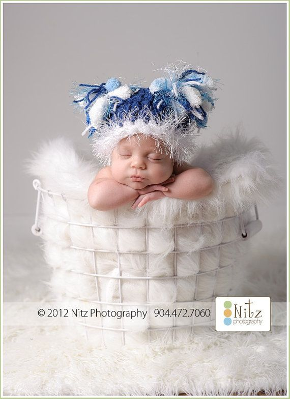 Newborn Crochet Hats Crocheted Newborn Hat Baby by knoodleknits, $28.00  MY DAUGHTER WOULD KILL ME