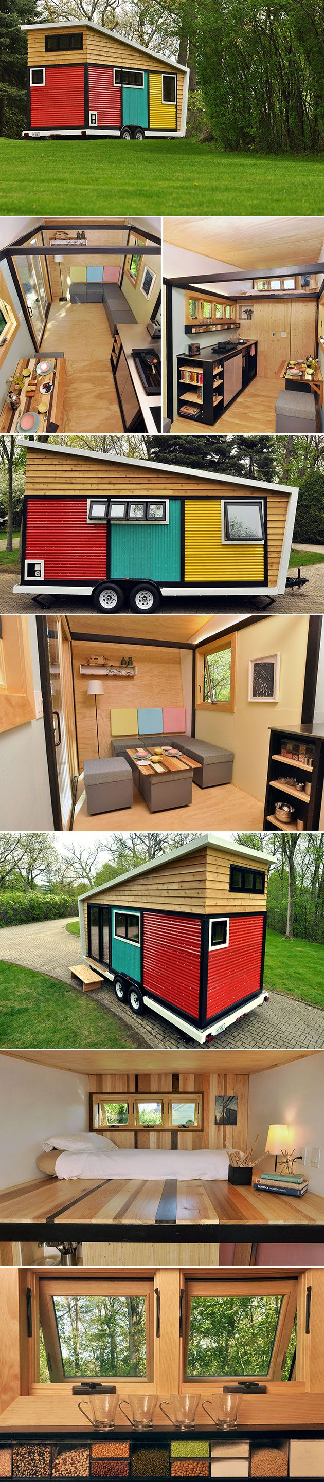 Toybox Tiny Home Looks Like A Playhouse But Open The Door And Youll See Its Modern House On Wheels