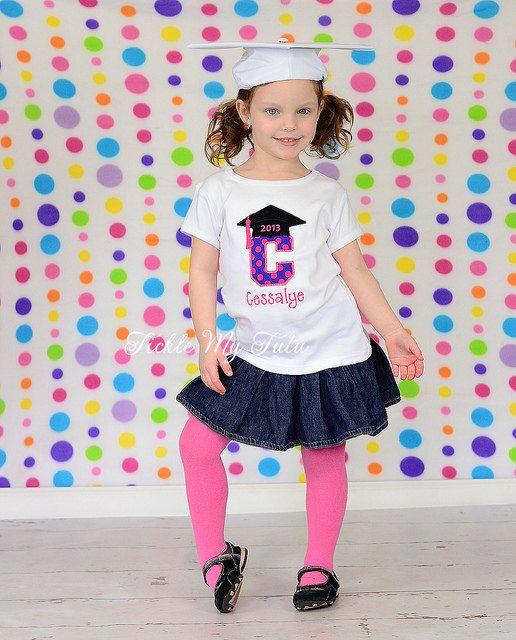 Preschool/Kindergarten Graduation Initial Shirt on Etsy, $28.00