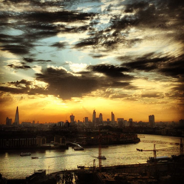 View from TM-Tech office, Canary Wharf, London