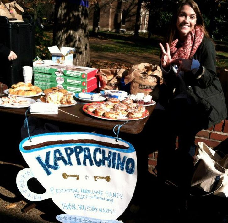sell coffee, tea, pastries, and cookies outside the library or academic buildings!