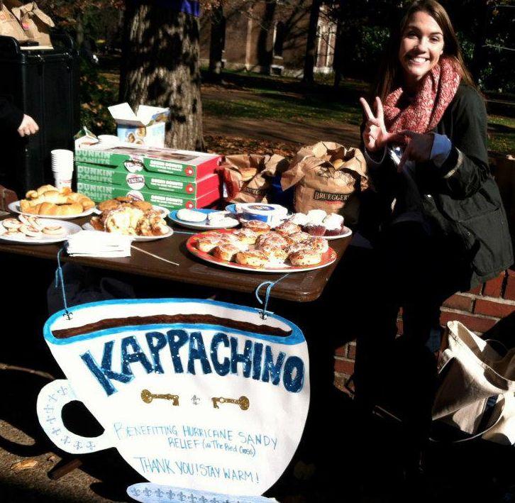 Pinner before kappachino! raising money for Reading is Fundamental