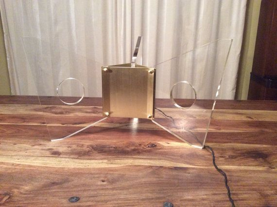 Vintage Lucite or Acrylic & Bronze Lamp for Floor by danishmaude, $1199.00