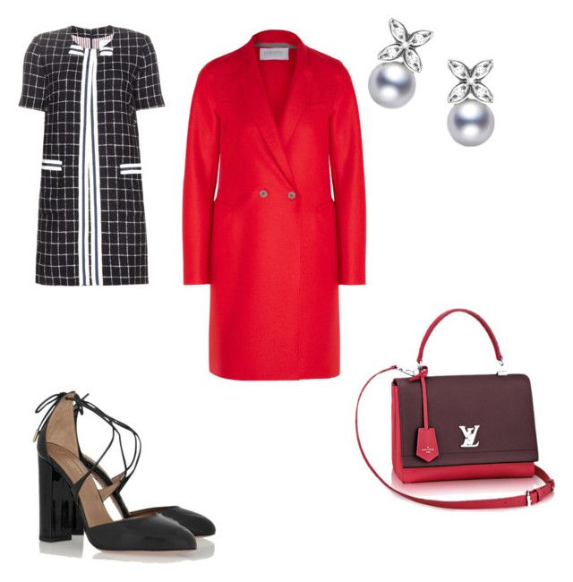 Spring is on my mind by the925editor on Polyvore featuring Thom Browne, Harris Wharf London, Aquazzura, women's clothing, women's fashion, women, female, woman, misses and juniors