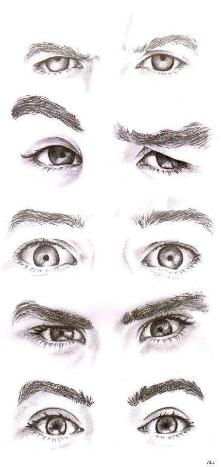 draw mens eyes expression