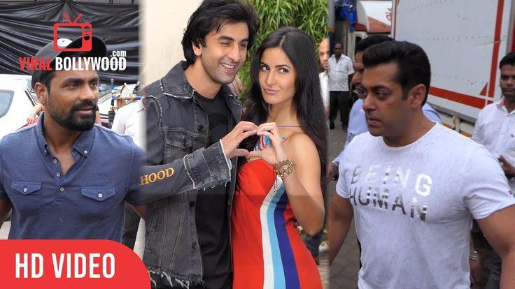 Salman Khan, Katrina Kaif, Ranbir Kapoor, Sohail Khan And Remo D'souza Spotted At #Mehboob Studio