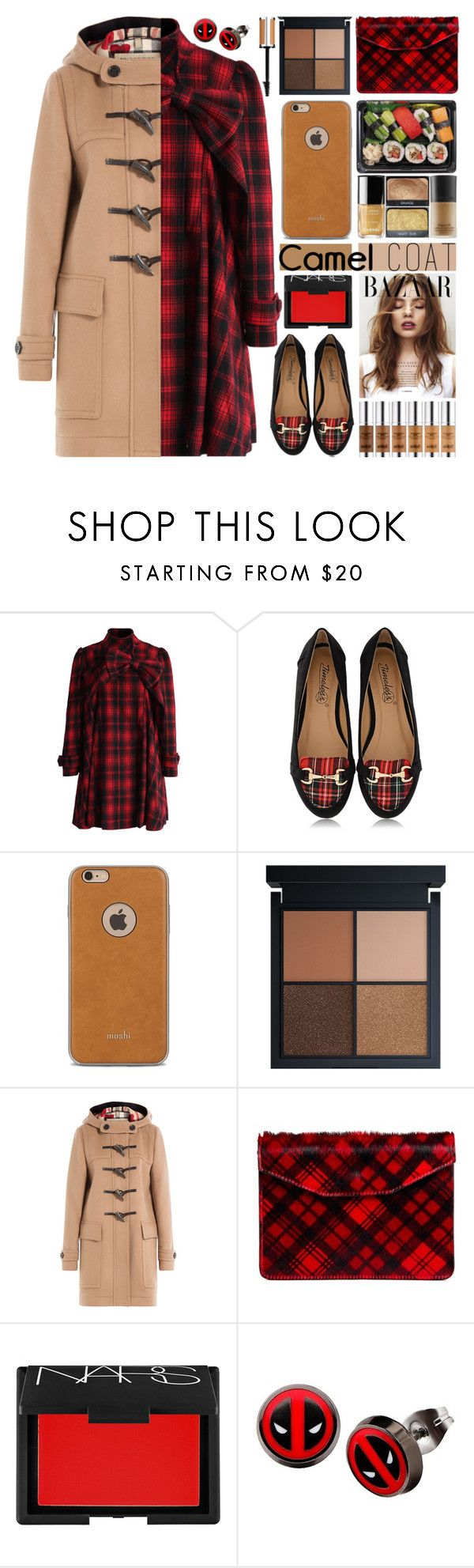 Wear a Camel Coat! by barbarela11 on Polyvore featuring Chicwish, Burberry, Timeless, Jas M.B., Marvel, Moshi, NARS Cosmetics and Givenchy