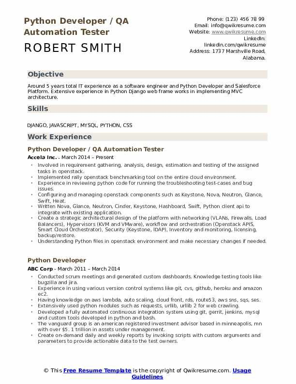 Junior Python Developer Jobs In Usa Modern Teacher Resume Template Resume Examples Development
